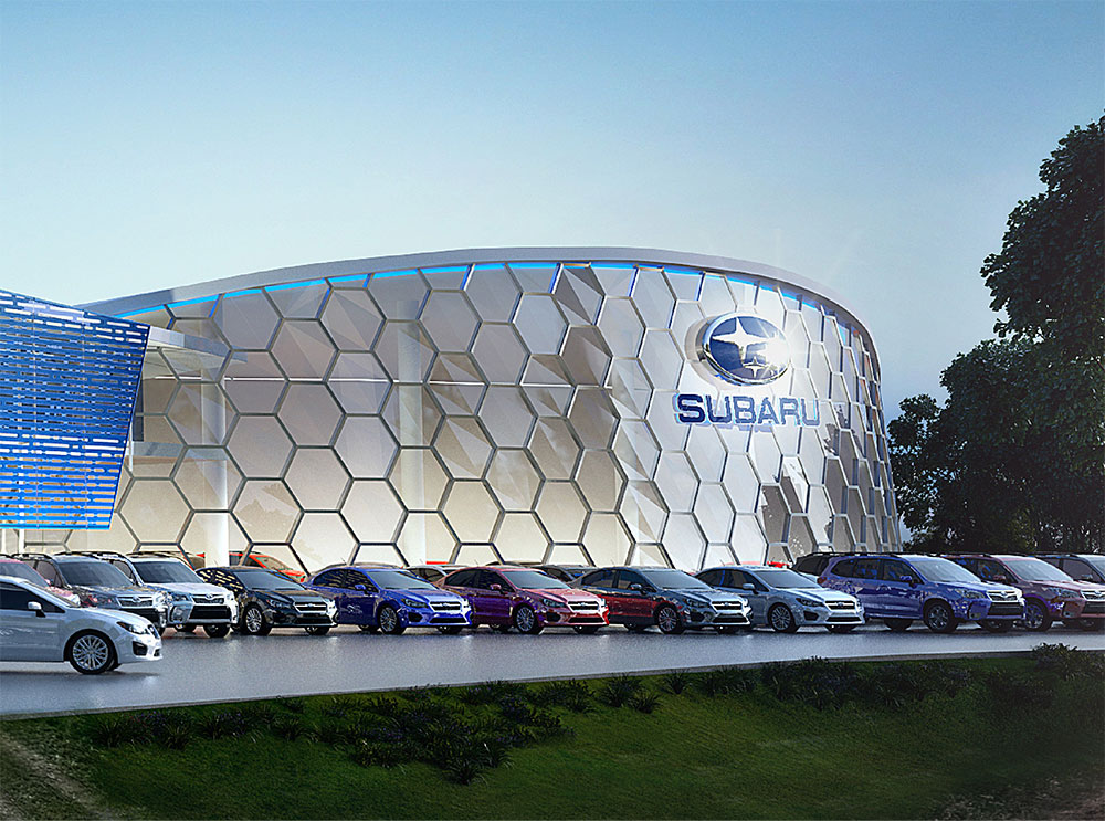 SBA Architects Subaru Concept Showroom 6